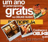 Um ano de Jantar Grátis no Obuke Sushi