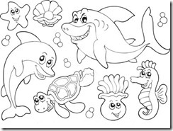 Sea Life to Color - K