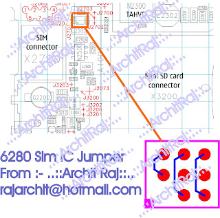 Trik Jumper 6280  sim ic jumper