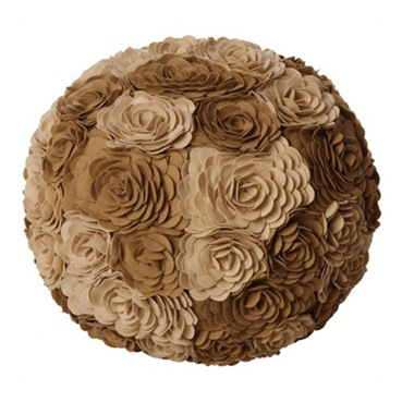 wool flower ottoman