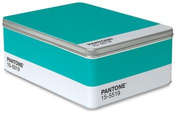 Pantone Turquoise tin