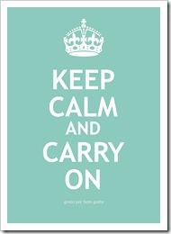 Keep Calm Verde