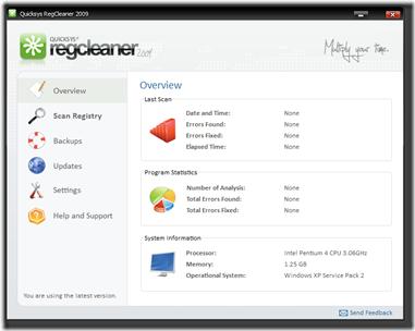 Quicksys RegCleaner 2009 1