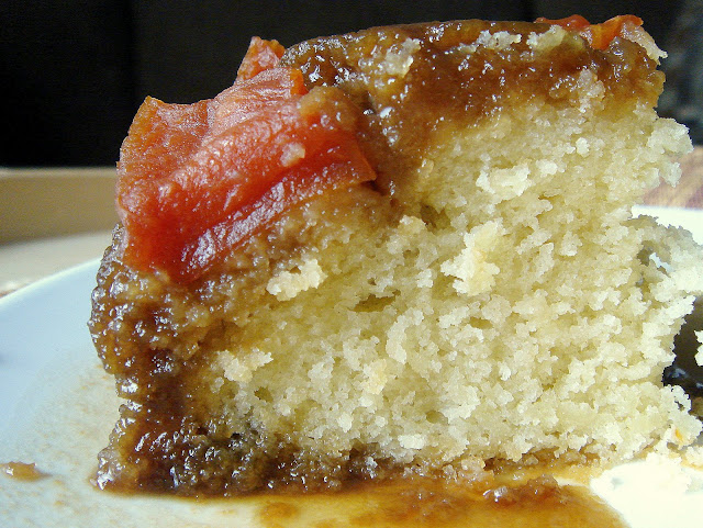 no, that's not a typo up there. We baked a papaya upside-down cake ...