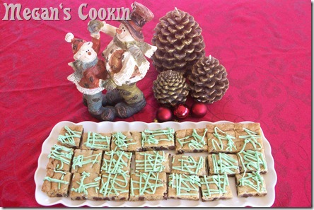 Mint Chocolate Chip Cookie Bars