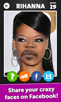 Screenshot of Celebrity Face Mania
