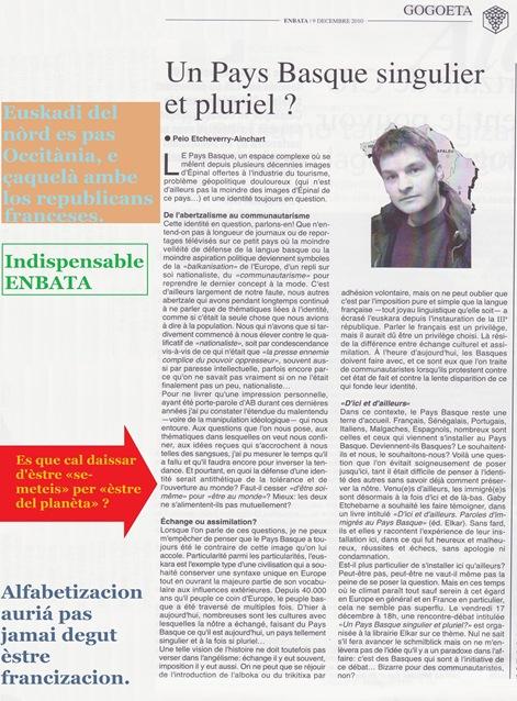 Euskadi Occitània Enbata indispensable