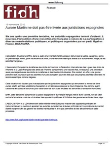 Aurore Martin FIDH