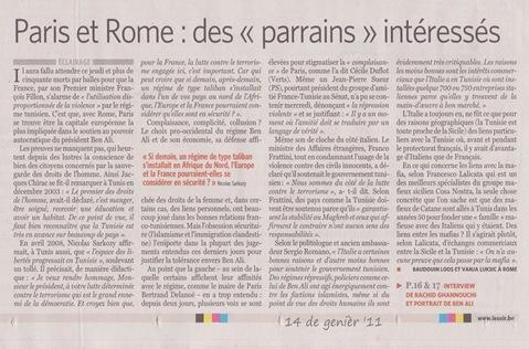 los parrains franceses e italians LeSoir 140111