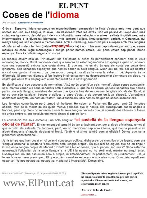 Coses de l'idoma Josep-Lluís Carod-Rovira ElPunt 300111