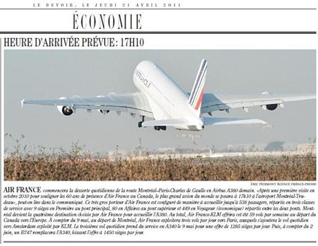 AUR FRANCE KLM Novèla Linha LeDevoir 210411