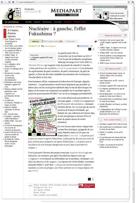 Nucléaire et socialiste Médiapart 230511