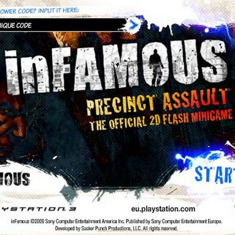 inFamous goes 2d in a new flash game from Agame
