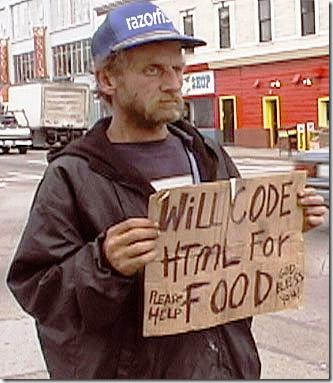 Will code HTML for food