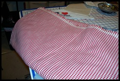 Houndstooth red-white cotton-Vogue Fab 3252011