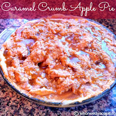 Caramel Crumb Apple Pie