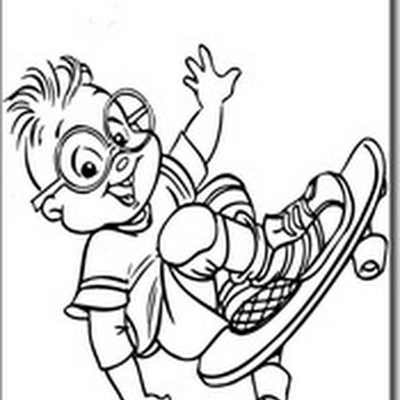 Desenhos para Colorir – Alvin e os Esquilos