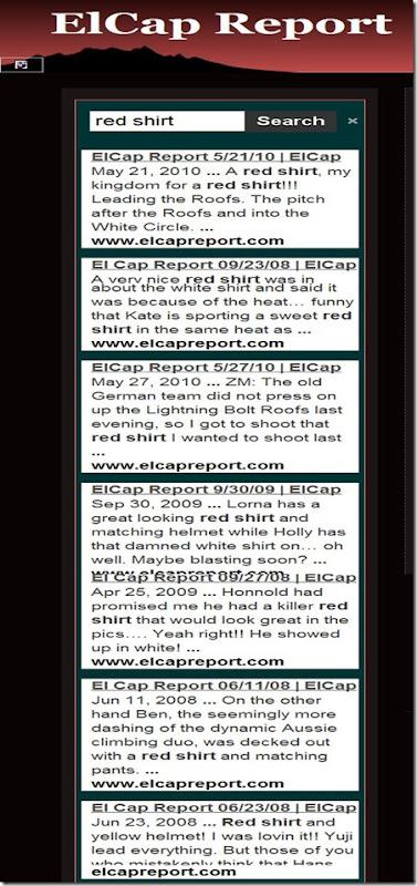 El Cap red shirt search copy
