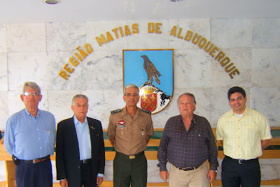 Ten R/2 Ricardo Pio (Tu 66), Ten R/2 Claudio Borba (Tu 59), Gen Div Ananias, Ten R/2 Cassundé (Tu 67), Ten R/2 Rogério (Tu 94)