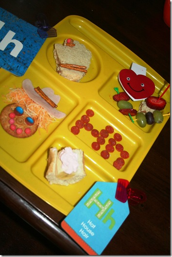 letter H lunch, meals 001