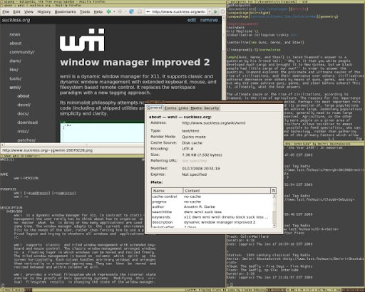 wmii tiling window manager