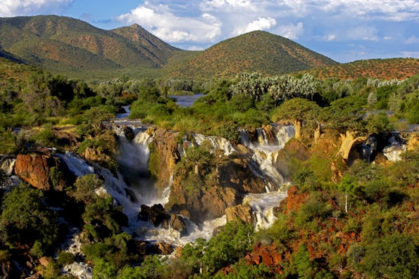 Epupa Falls on Namibia-Angola border.
