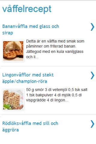 App Våffel recept APK for smart watch | Download Android ...