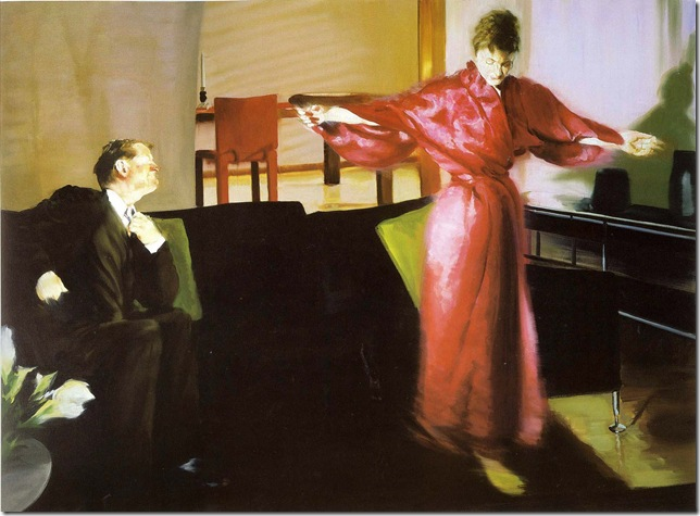 eric fischl -Krefeld Project Living Room Scene 3, 2002.