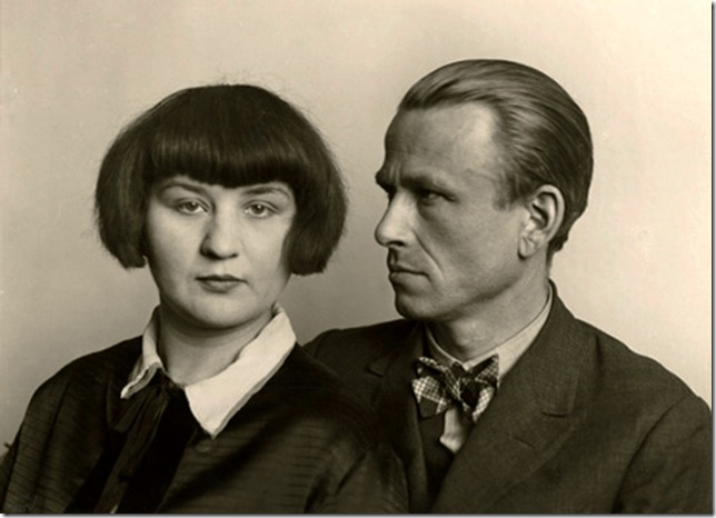 August Sander  - The painter Otto Dix and wife, 1926