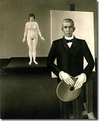 Anton Räderscheidt -Maler mit Model 1926