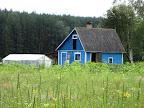 Zila māja Slutišķos