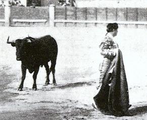 Mazzantini toreando Madrid 28-04-1897 quite - detalle