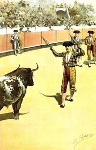 (La Lidia 02-09-1895) Mazzantini pareando en corto001
