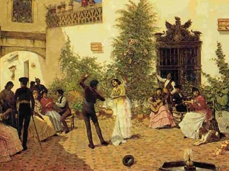 Fiesta flamenca (Oleo Jose Garcia Ramos)