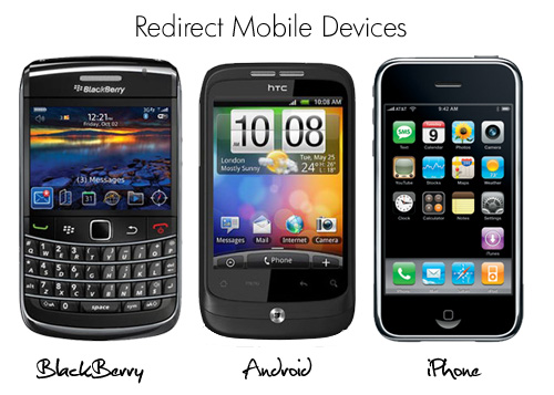 Redirect mobile devices