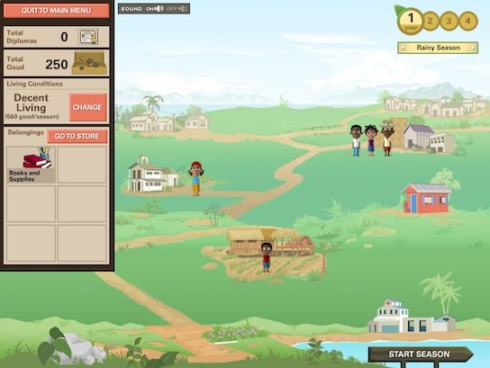 Ayiti screenshot - starting again