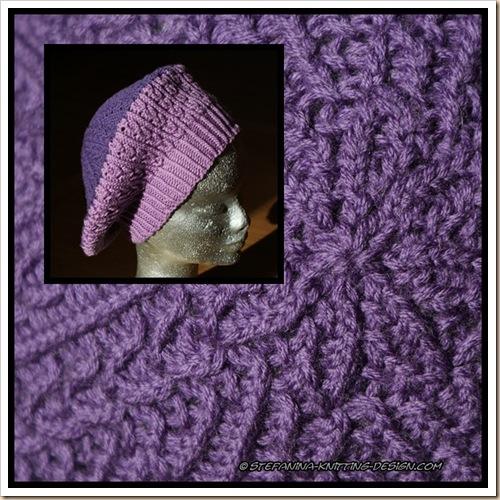 Violettina beret - montage