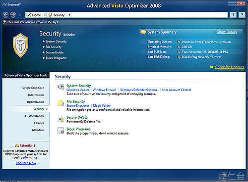 Advanced Vista Optimizer 2008-6
