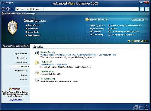Advanced Vista Optimizer 2008-6