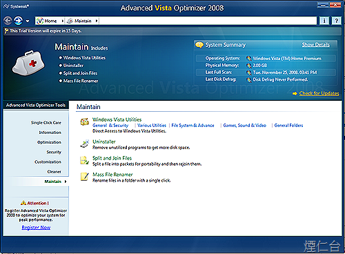 Advanced Vista Optimizer 2008-9
