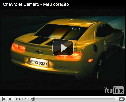 Video – Comercial do  Chevrolet Camaro
