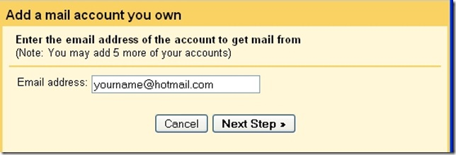 gmail add a mail account
