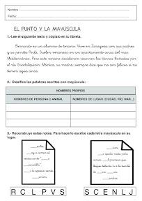 CONTROL DE LENGUA EL PUNTO Y LA MAYUSCULA