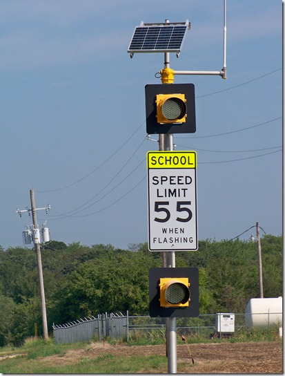 55 mph speed zone