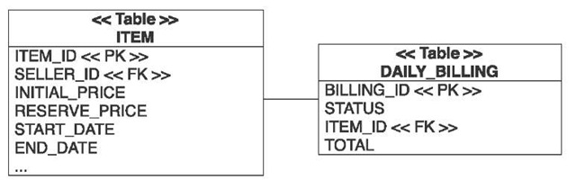 The daily billing summary references an item and contains the total sum