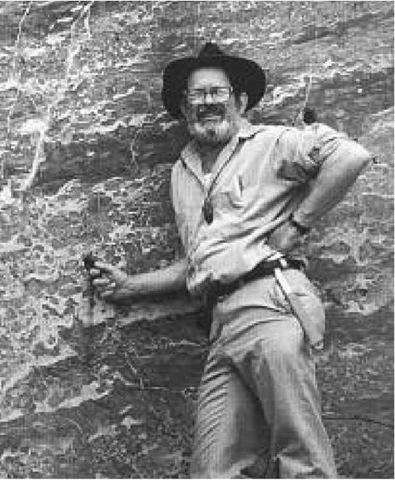 Robert Folk in a marble quarry in Lipari, Italy