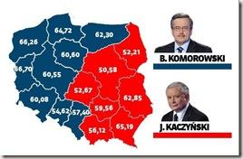 Mapa de votação