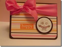happy owl card