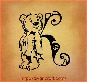 lettere A | B |... K Design Tattoo