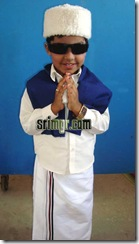 Anbarasan in MGR dress
